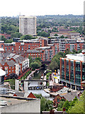 SP0586 : Birmingham City Centre from the Library Secret Garden #15 by Roger  Kidd