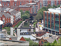 SP0586 : Birmingham City Centre from the Library Secret Garden #16 by Roger  Kidd