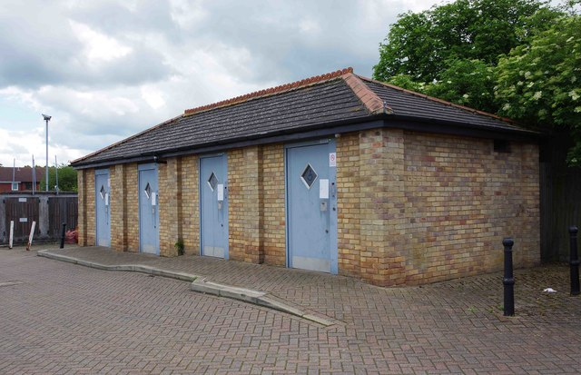 Toilet block, Furrowfields Road - South public car park, Chatteris, Cambs