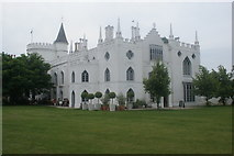 TQ1572 : View of Strawberry Hill House from the green at the rear of the house #2 by Robert Lamb