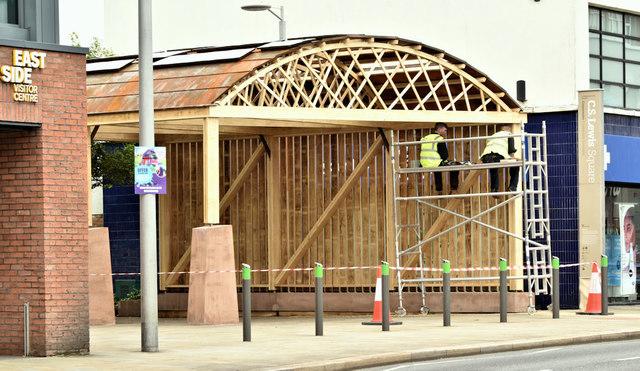 New wooden building, Connswater, Belfast (June 2019)