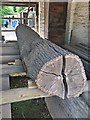 SJ3248 : The log pit at Erddig Hall by Graham Hogg