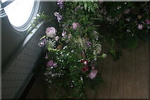 TQ1572 : View of flowers in Strawberry Hill House #5 by Robert Lamb