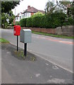 ST2887 : Royal Mail drop box, Ridgeway, Newport by Jaggery