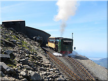 SH6054 : Snowdon Mountain Railway at Summit station by Gareth James