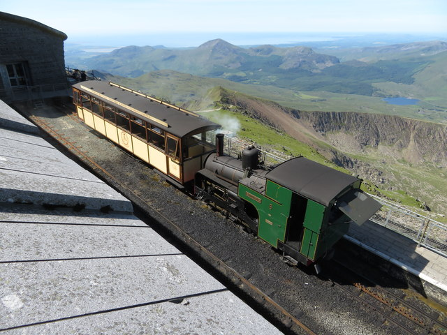 Snowdon Mountain Railway at Summit station