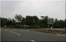 TF1209 : Roundabout on Peterborough Road, Market Deeping by David Howard