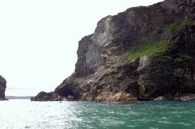Busta Pund, Fetlar, from the sea