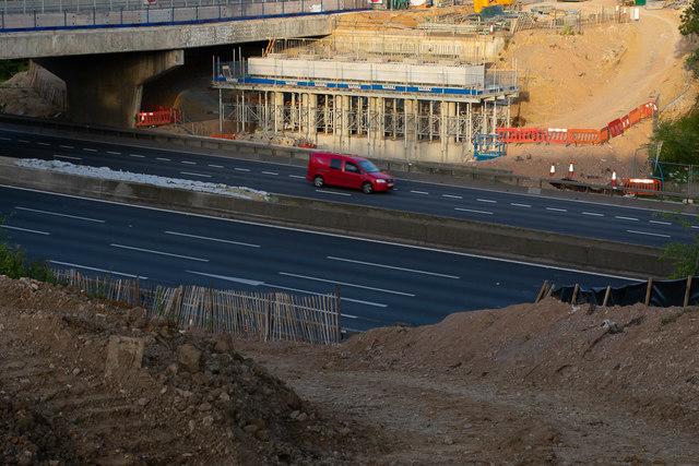 New Romsey Road Bridge foundations