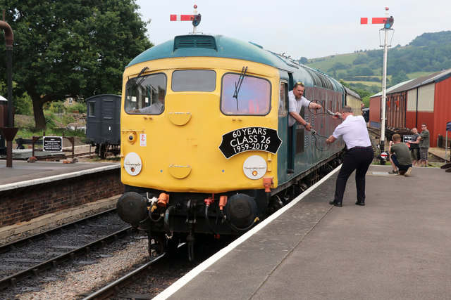 Winchcombe Station - swapping the tokens