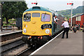 SP0229 : Winchcombe Station - swapping the tokens by Chris Allen