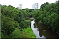 NS5668 : River Kelvin by Anne Burgess