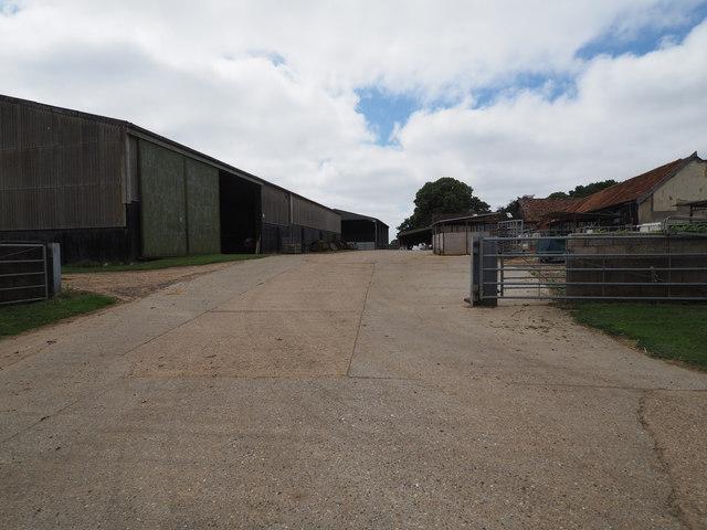 Church Farm farmyard entrance