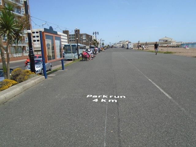 parkrun marker 4k Worthing seafront