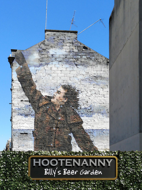 Sir Billy Connolly mural at Hootenanny, Glasgow