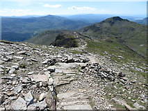 SH6053 : Descending Snowdon's south ridge by Gareth James