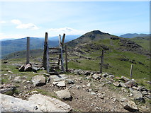 SH6052 : Ladder stile on Snowdon's south ridge by Gareth James