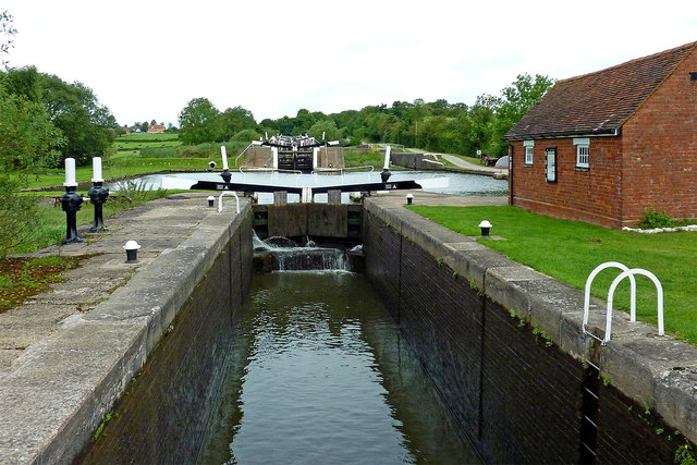 Knowle Bottom Lock south-east of Solihull