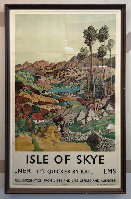 Isle of Skye rail poster, Riverside Museum, Glasgow