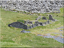SH6152 : Ruined buildings at South Snowdon Quarry by Gareth James