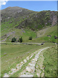 SH6251 : Descending a quarry incline into Cwm Llan by Gareth James