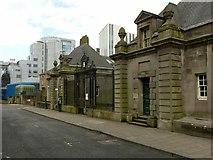 NS5865 : Former Glasgow Academy gateway on Holland Street by Alan Murray-Rust