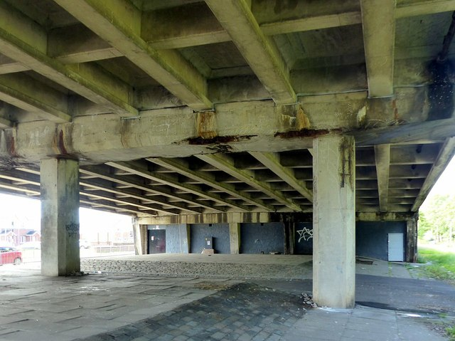 Clyde Tunnel southern approach, Shieldhall Road flyover – 2