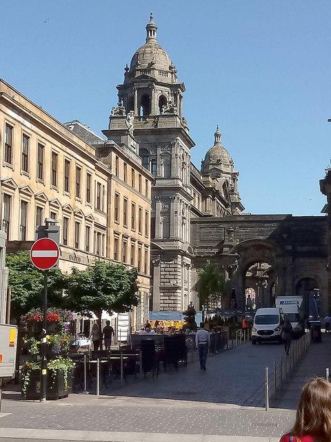 John Street and City Chambers, Glasgow