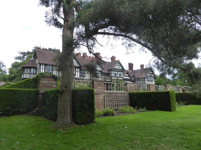 Wightwick Manor, from the entrance pathway