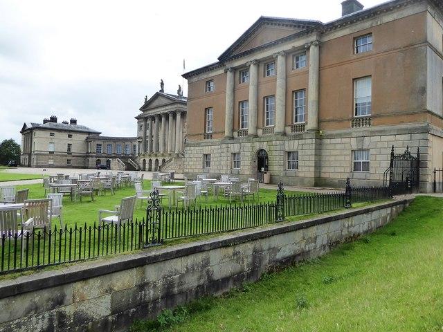 The frontage of Kedleston Hall