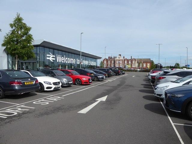 The Weston Road car park at Crewe station