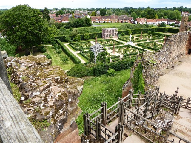 Looking towards the Tudor Garden from the Strong Tower at Kenilworth