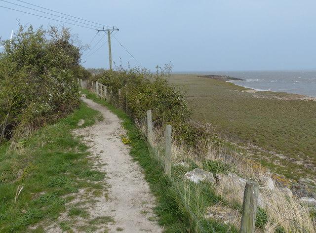 Wales Coast Path at Walwen