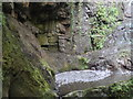 NO7766 : Former plunge pool at Den Finella Waterfall by Peter Robinson