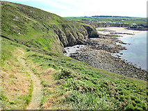 SH2989 : The Anglesey Coastal Path approaching Porth Swtan (Church Bay) by Jeff Buck