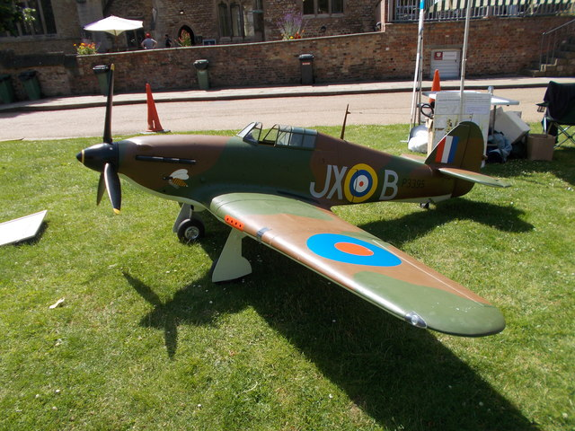 Model Hawker Hurricane at Peterborough Cathedral for Armed Forces Day