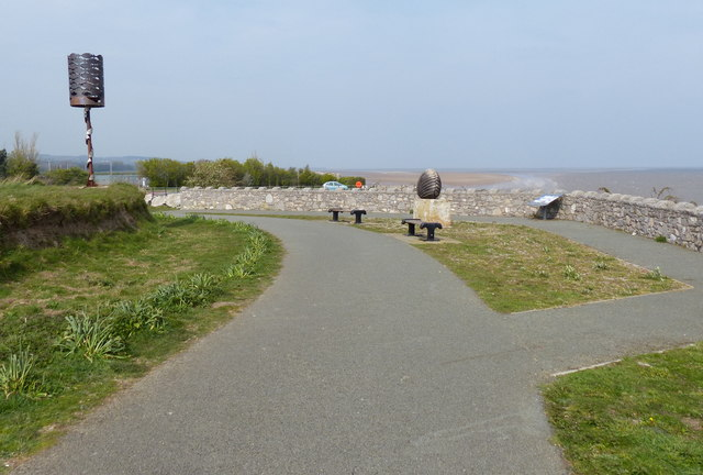 Wales Coast Path at Greenfield Dock