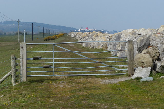 Gate along the Wales Coast Path