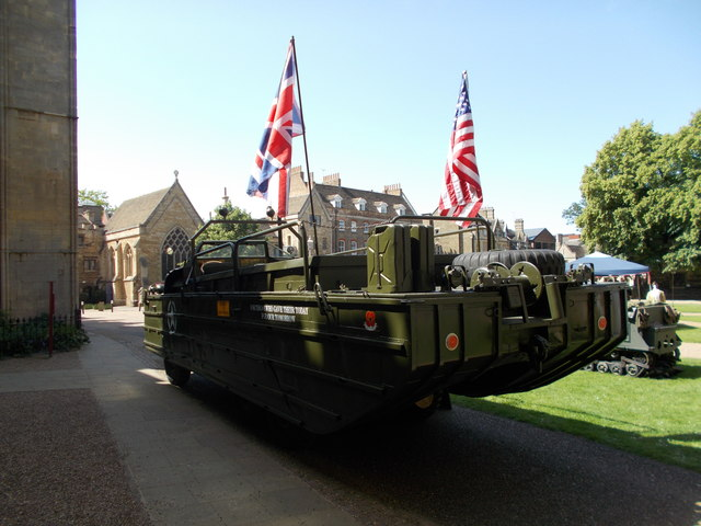 DUKW at Peterborough Cathedral for Armed Forces Day