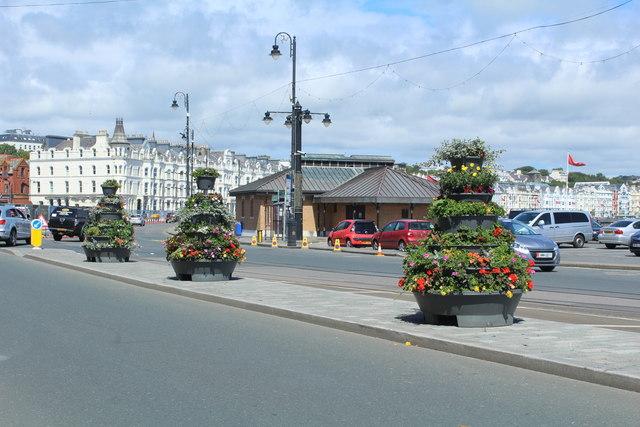Floral decorations on Loch Promenade