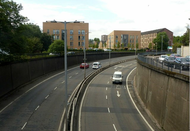 Clyde Tunnel approach
