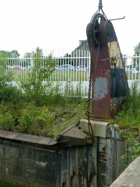 Govan vehicle ferry dock – detail