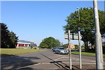 SP8888 : Roundabout on Jubilee Avenue, Corby by David Howard