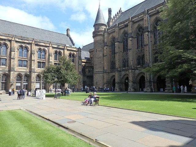 West quadrangle, Gilbert Scott Building, University of Glasgow