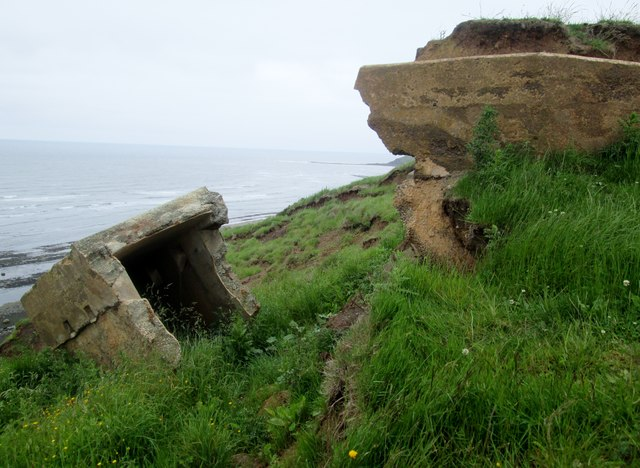 Pill  Box  losing  battle  with  coastal  erosion