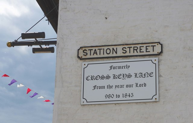 Station Street signs, Station Street, Chatteris, Cambs