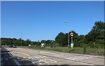 SP8681 : Junction on the A43 north of Kettering by David Howard