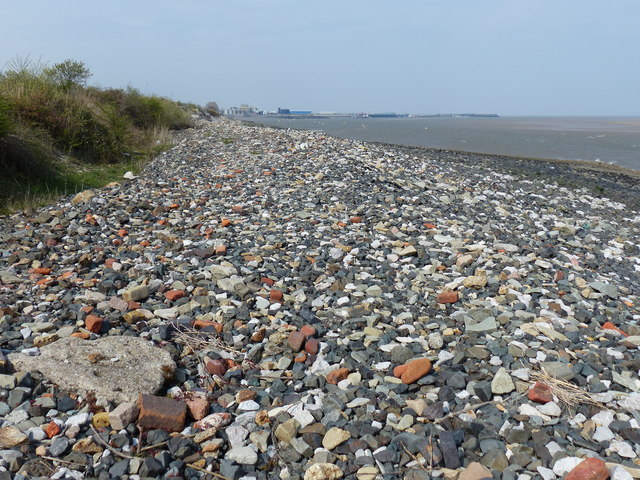 Dee Estuary shoreline at Glan-y-don