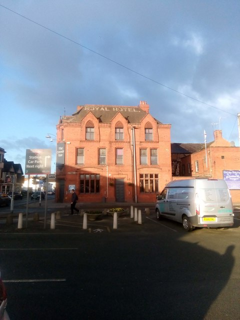 Royal Hotel, Crewe, from the Pedley Street car park