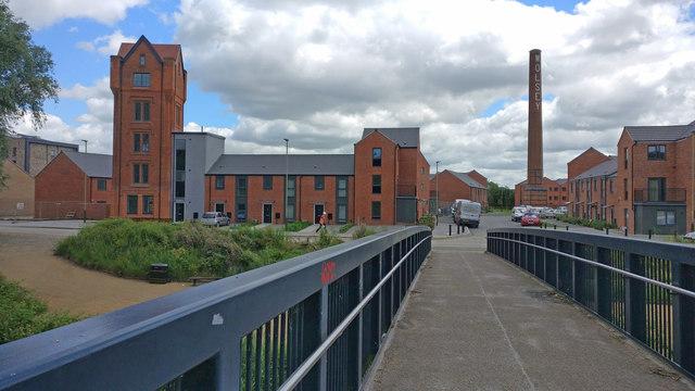 Footbridge crossing the River Soar